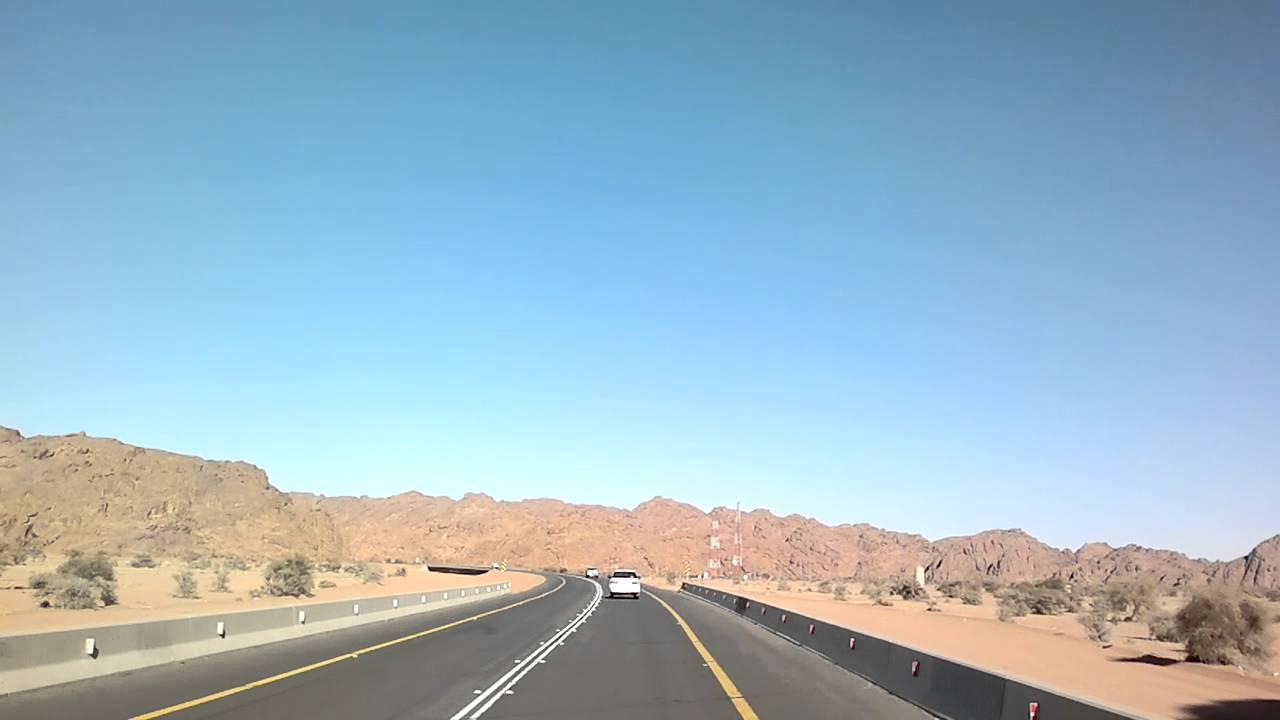 هنا السعودية مقطع من طريق تبوك الشملي حائل Youtube