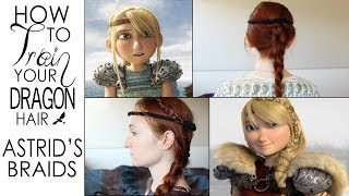 How To Train Your Dragon Hair Tutorial - Astrid's Braids from the First and Second Movie