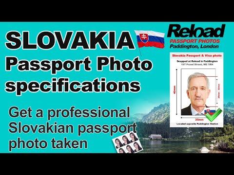 Slovakia Passport Photo and Visa Photo snapped in Paddington, London