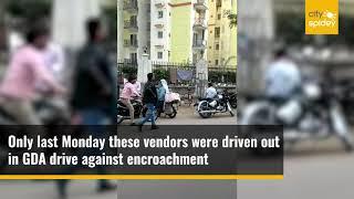 Ahinsa Roadside residents concerned over return of vendors
