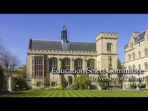 Education Select Committee, University of Oxford