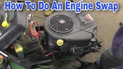 How To Do An Engine Swap On A Riding Mower with Taryl