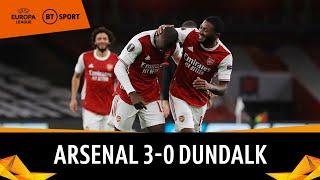 Arsenal v Dundalk (3-0) | Europa League Highlights