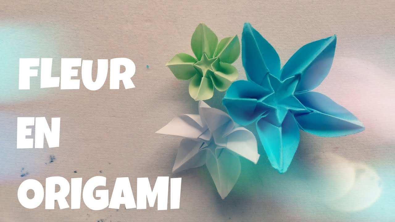 Faire une Fleur en Papier  Origami facile  YouTube