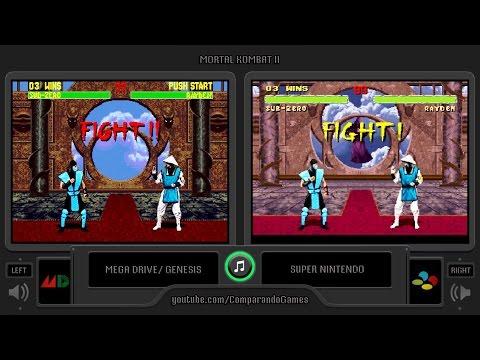 Mortal Kombat II (Sega Genesis vs Snes) Side by Side Comparison thumbnail