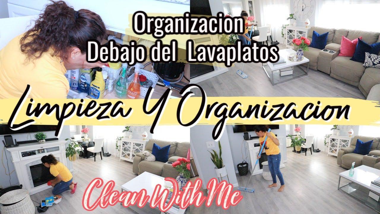 RUTINA DE LIMPIEZA DE LA CASA | ORGANIZACION DEBAJO DEL LAVAPLATOS| #CLEAN WITH ME #SILVIAENTUVIDA