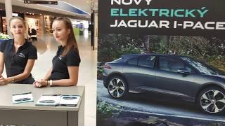 Первый день - лета 2018 - предпродажное демо электрокара Jaguar I-PACE в Bory Mall Bratislava в 4К