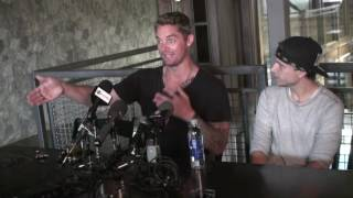 "Brett Young celebrates #1 song ""In Case You Didn"