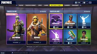 FORTNITE BOUTIQUE August 22 Skins RAPACE - VENTURA - VICTORION