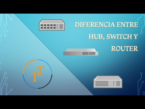Diferencia entre Hub, Switch y Router