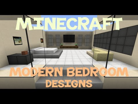 Minecraft: Modern Bedroom Designs - YouTube