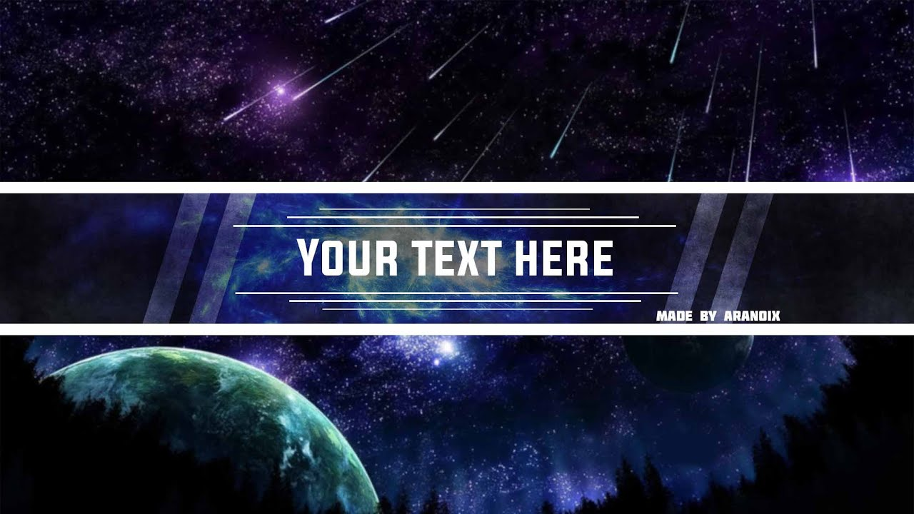Free Space Youtube Banner Template 2 No Survey Photoshop Psd