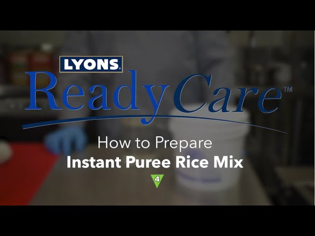 How to Prepare Instant Puree Rice Mix