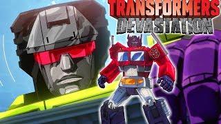 Transformers Devastation Video Game Devastator Optimus Prime Sideswipe Battle