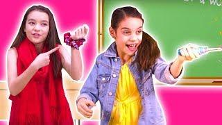 SHOW AND TELL at School - Magic Princess Pranks & More! - Princesses In Real Life | Kiddyzuzaa