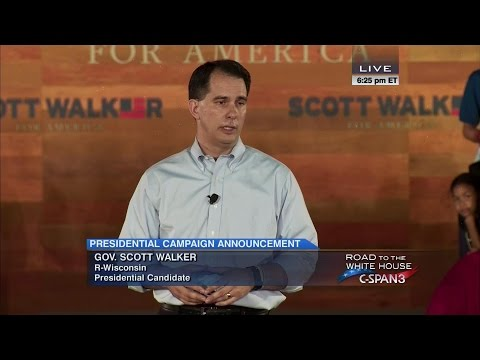 Scott Walker Presidential Campaign Announcement Full Speech (C-SPAN)