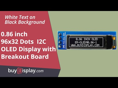 "I2C White 0.86"" inch OLED Display Module 96x32 Pixel for Arduino,Raspberry Pi"