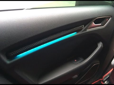 2018 Audi A3 | retrofit DOOR ambient LED light - YouTube