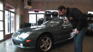 2003 Mercedes Benz SL500 R convertible for sale with test drive, and walk through video