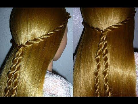 Frisuren Schön, einfach, schnell: Alltag/Schule/Uni/Arbeit/Freizeit. Twist Braid Hairstyle. Peinados
