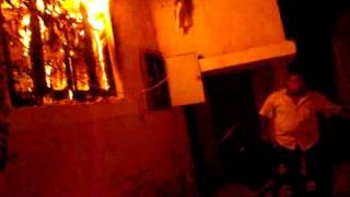 حريق مقر حزب الحرية والعدالة باسيوط وسرقة محتوياته