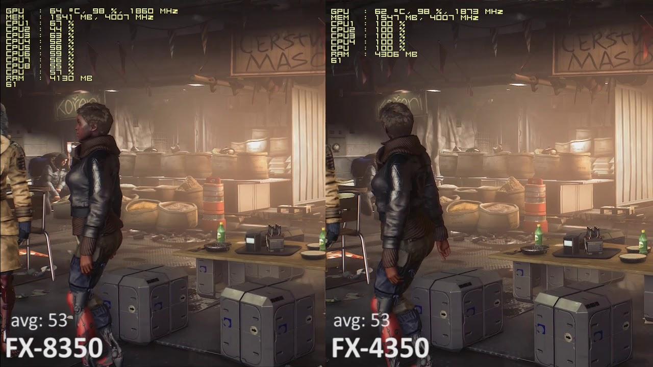 Upgrade AMD FX 8350 Vs 4350 In 10 Games With GeForce GTX 1060