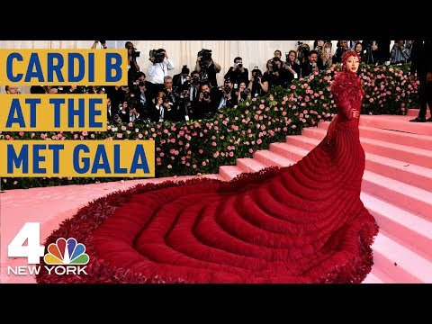 Met Gala 2019: Cardi B Stuns in a Gigantic Red Dress  NBC New York