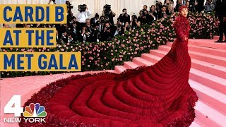 Met Gala 2019: Cardi B Stuns in a Gigantic Red Dress | NBC New York