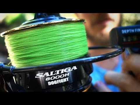 Spooling A Daiwa Saltiga Dogfight 8000H With 51kg WFT Line