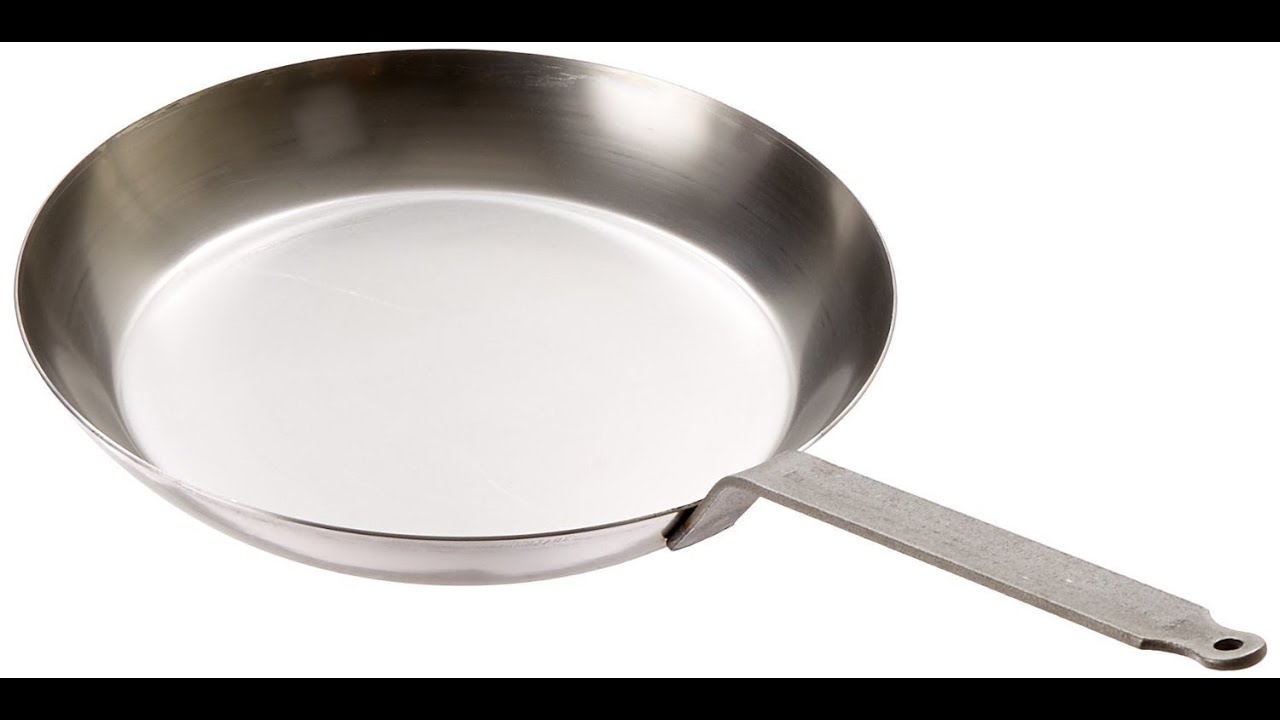 062005 black steel round frying pan 11 78 inch gray youtube