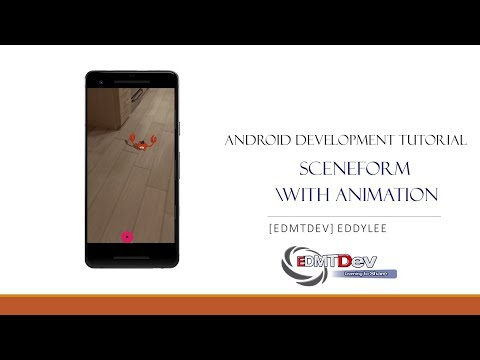 Android  Development Tutorial  - Google AR Core Sceneform Animation thumbnail