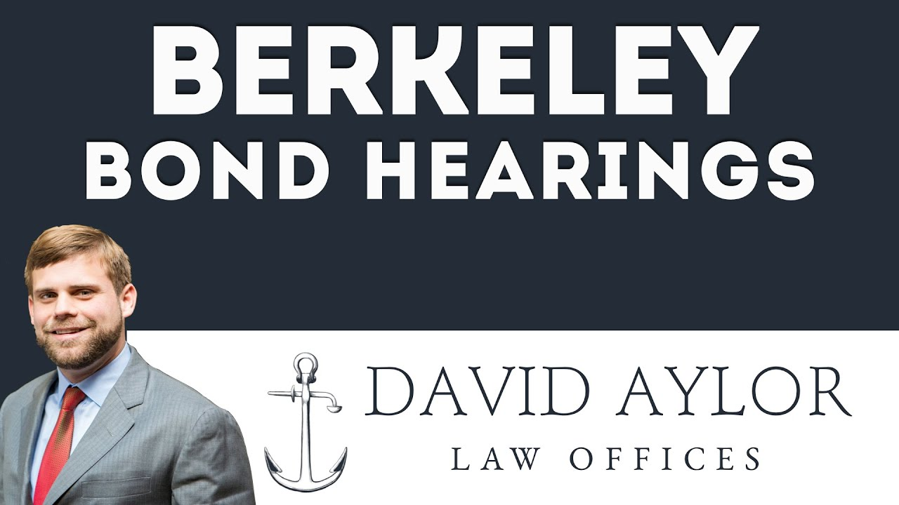 What is the Bond Hearing Process in Berkeley County? | Criminal Defense  Lawyer David Aylor