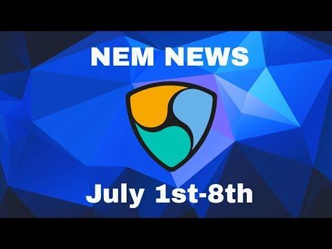 NEM news! July 1st-8th. Covering Coincheck, Lon Wong, Ecobit, Lux Tag