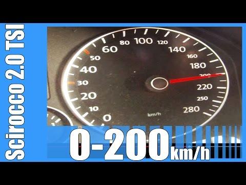 VW Scirocco 2.0 TSI Acceleration 0-200 km/h GOOD! Beschleunigung