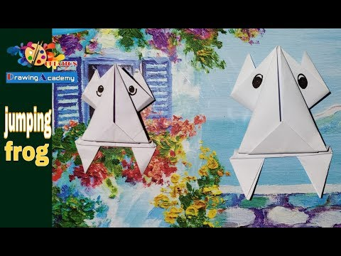 How to make paper Frog easy   paper art