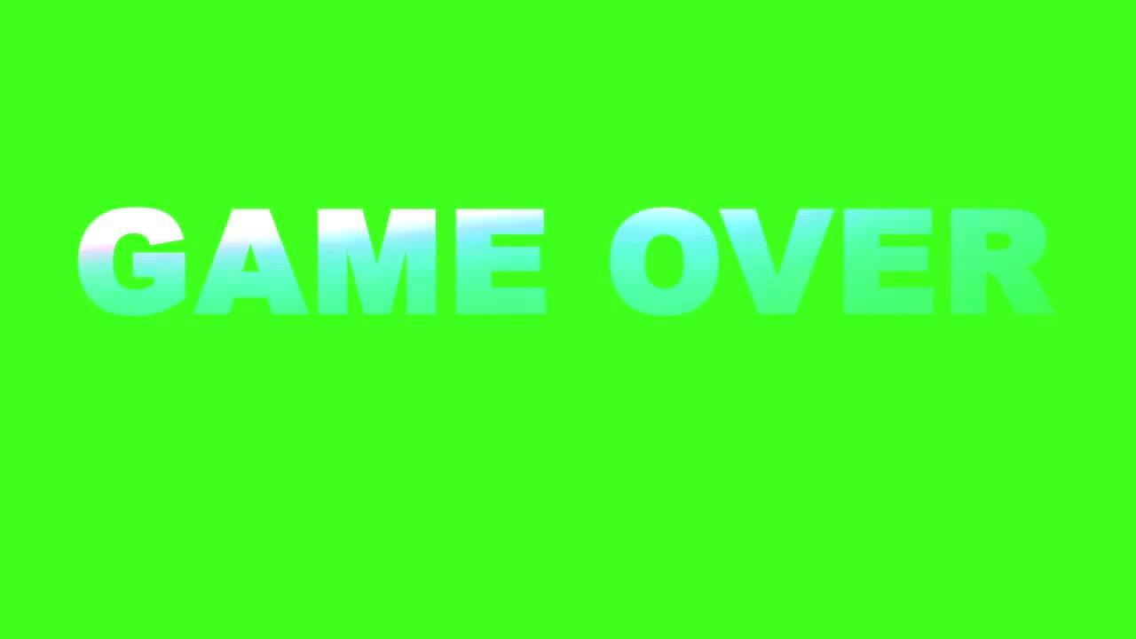 Game Over Vhs Inspired Glitch Text Loop Greenscreen