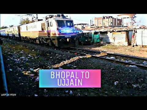 BHOPAL TO UJJAIN {PART-3}A TRAIN JOURNEY COMPILATION FROM HARDA TO UJJAIN.