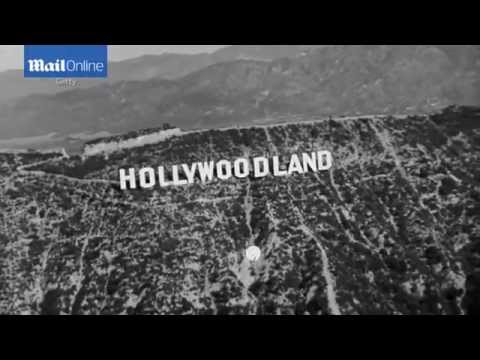 Archive ariel footage shows Hollywoodland sign in 1930