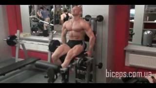 Как накачать ноги и ягодицы - 78. Разгибания 1 ноги сидя. Видео 2. Нижняя часть бедра(Тренировка ног. Разгибания 1 ноги сидя. Видео 2. Нижняя часть бедра Онлайн -тренировки с Юрием: http://biceps.com.ua/online..., 2009-11-15T16:21:45.000Z)