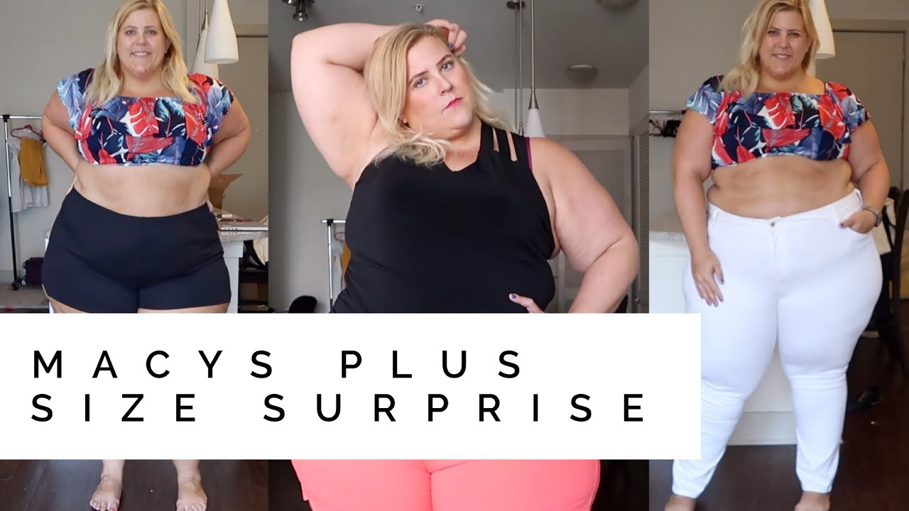9d8680e1222 Macy's Surprise Gift Plus Size Haul + Try On - YouTube