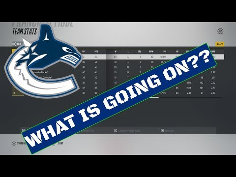 WHAT IS GOING ON???? | NHL 18 | Vancouver Canucks Franchise Mode Ep  2