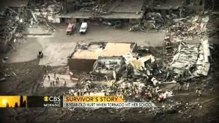 8-year-old tornado survivor tells her story