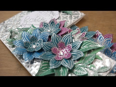 Jewel Flowers Stepper Card & Matching Box