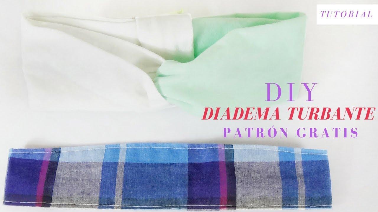 DIY CÓMO HACER DIADEMA Y TURBANTE / Costura Diy - YouTube