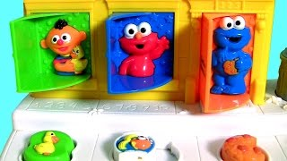 baby sesame street pop up pals surprise toys   learn colors singing c is for cookie monster elmo