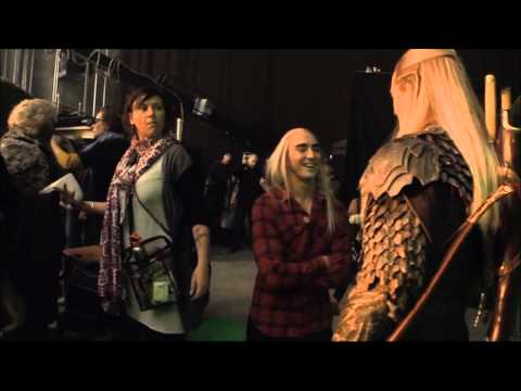 LEE PACE, ORLANDO BLOOM  The Hobbit DOS BTS