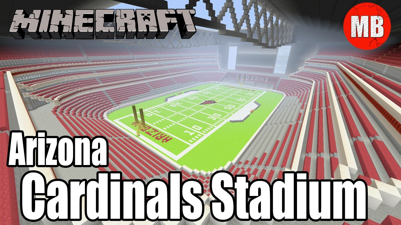 Minecraft NFL Arizona Cardinals Stadium | University of Phoenix Stadium