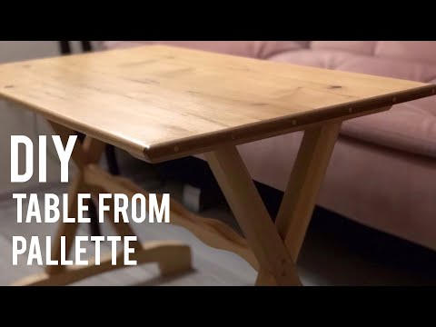 Paletten Masa Yapımı / Making A Table From Pallets / Table Diy / Wooden Table / Building A Table