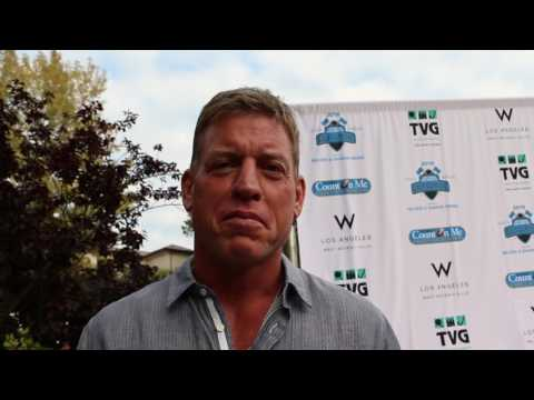 Troy Aikman Before the Jim Mora Count On Me Family Foundation Reception