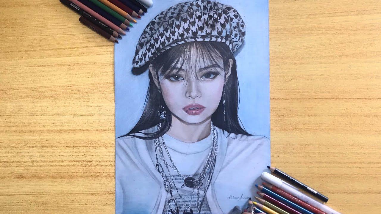 Drawing Blackpink 블랙핑크 -Jennie(김제니) Speed Drawing |  MVA Arts